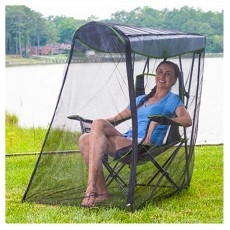 Kelsyus Folding Canopy Chair w/ Bug Guard Insect Screen