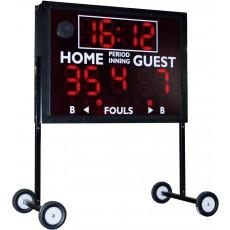 """Sportable Scoreboard MS-4 Multi-Sport, Indoor / Outdoor Scoreboard, 68"""" W x 60"""" H"""
