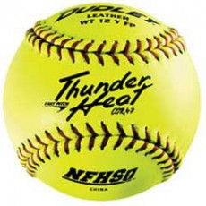 "Dudley 12"" WT12YFP NFHS 47/375 Thunder Heat Leather Fastpitch Softballs, dz"