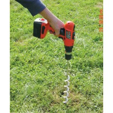 Fence Ground Auger for Power Drill