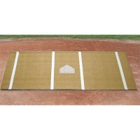 Baseball/Softball Hitter's Turf Mat, 6' x 12', Clay
