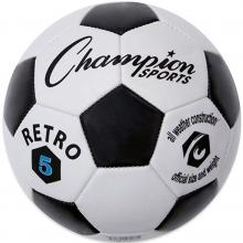 Champion Retro Black & White Soccer Ball, Size 3, 4 & 5