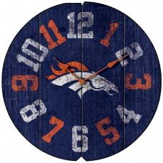 Denver Broncos Vintage Round Clock