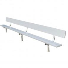 National Rec 15' PERMANENT Aluminum Player Bench w/ Backrest