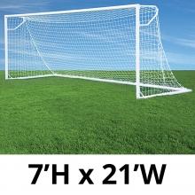 Jaypro 7' x 21' Round Nova Club Goals, RCG-21S (pair)