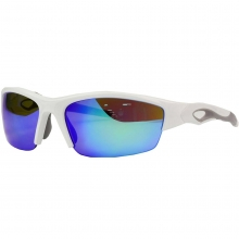 Rawlings 32 Adult Sunglasses, Shiny White/Smoke with Blue Mirror