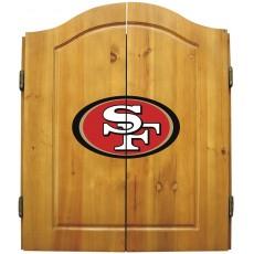 San Francisco 49ers NFL Dartboard Cabinet Set