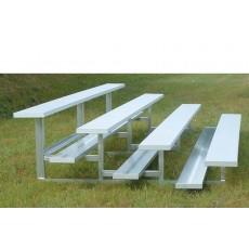 4 Row, 21' STANDARD Low Rise Aluminum Bleacher