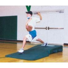 "Portolite 8'6""Lx4'Wx10""H Two-Piece Indoor Pro Practice Baseball Mound, Green"