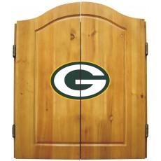 Green Bay Packers NFL Dartboard Cabinet Set