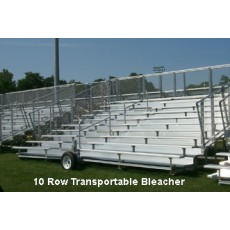 Transportable DELUXE Bleacher, 10-Row, 21'