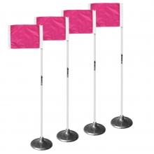 Kwik Goal Pink Premier Soccer Corner Flags, set of 4, 6B1420