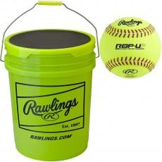 "Rawlings Ultimate Practice (18) 12"" Softball/Bucket Combo, B618RBP12-UP"