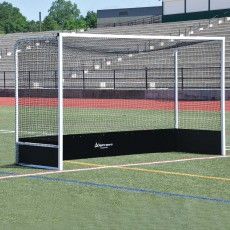 Jaypro Official STEEL Field Hockey Goals w/ Bottom Boards, OFHG7124 (pair)