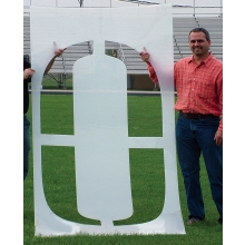 Standard Football Field Stencil, 3-1/2'H, Single Letter or Number