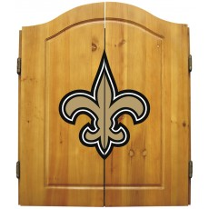 New Orleans Saints NFL Dartboard Cabinet Set