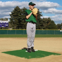 "Promounds 6'Lx5'Wx6""H Minor League Game Mound, Green"