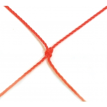 Jaypro 7'x12'x1'x4'  2.5mm Orange Soccer Net
