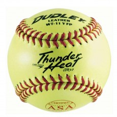 "Dudley 11"", 4A-531 47/375 ASA Thunder Heat Leather Fastpitch Softball, dz"