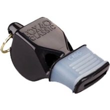 Fox 40 Classic CMG  Comfort Grip Coach/Referee Whistle, Black