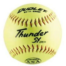 "Dudley SY11 GWSP 11"", 44/375 ASA Thunder Synthetic Slowpitch Softballs, dz"