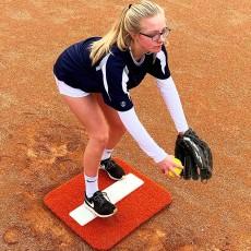 Portolite Spiked Short Softball Pitching Mat