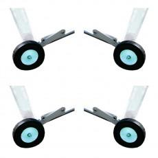 Bison Wheel Kit for Field Hockey Goals, set of 4
