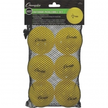 Champion 6/set USAPA Outdoor Roto Molded Pickleballs