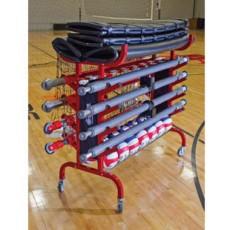 Tandem Portable Volleyball Equipment Cart