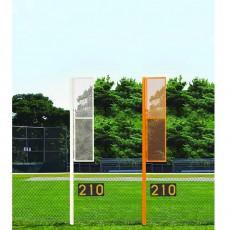 Jaypro 12' Softball Foul Poles, SBCFP-12