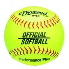 "Diamond 11"", 11YSC Official Synthetic Softball, Yellow"