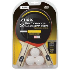 Stiga T1363 Performance Table Tennis Paddles, 2 player set