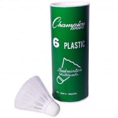 Champion 6/pack Indoor Plastic Shuttlecocks