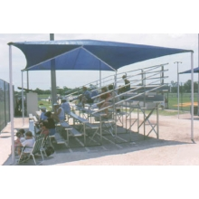Apollo Bleacher Shade Cover, 18' x 10' x 8' (covers 3 row, 15' bleachers)