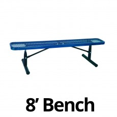 UltraPlay 8' Diamond Plastic Coated Portable Bench