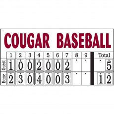 Sportables Manual Baseball-Softball Scoreboard, 8'Wx4'H