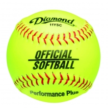 "Diamond 11"", 11YSC Official Synthetic Softball, Yellow"