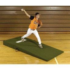 "Proper Pitch 3'6""Wx3'6""Lx4""H Collegiate/High School Baseball Mound, Green"