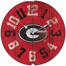Vintage Round Clock, University of Georgia , Bulldogs