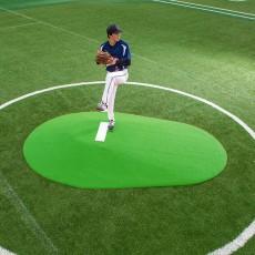 "Portolite 10""Hx11'3""Lx7'7""W Full Length Game Pitching Mound, Green"