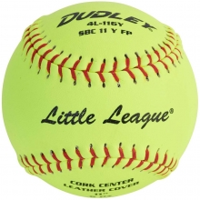 "Dudley 4L116Y 11"" Little League Leather Fastpitch Softball"