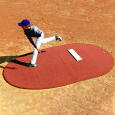 "Portolite Two-Piece 10""Hx11'3""Lx7'7""W Game Pitching Mound, Clay"