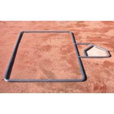 Batter's Box Layout Template, Softball, 3'W x 7'L