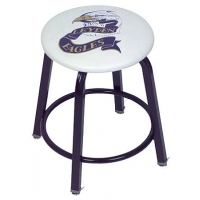 """Clarin Locker Stool, 24""""H WITH 2 COLOR LOGO"""