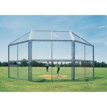 10' x 10', w/ Full Hood Permanent Baseball/Softball Backstop, BSCL10HW