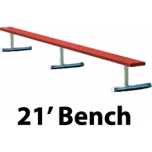 21' Portable Aluminum Powder Coated Player Bench, BEPI21C