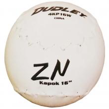 "Dudley 16"" Chicago Kapok Softballs, dz"