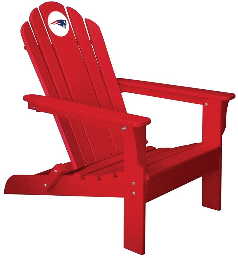 New England Patriots Nfl Folding Adirondack Chair Red