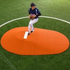 """Portolite Two-Piece 10""""Hx11'3""""Lx7'7""""W Game Pitching Mound, Clay"""