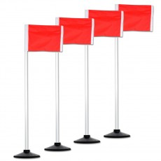 Champro All-Surface Official Soccer Corner Flags w/ Rubber Base, set of 4, A197RB